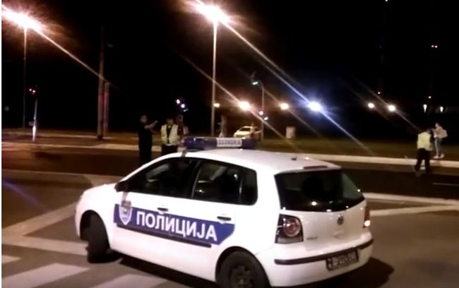 policija srbija noć