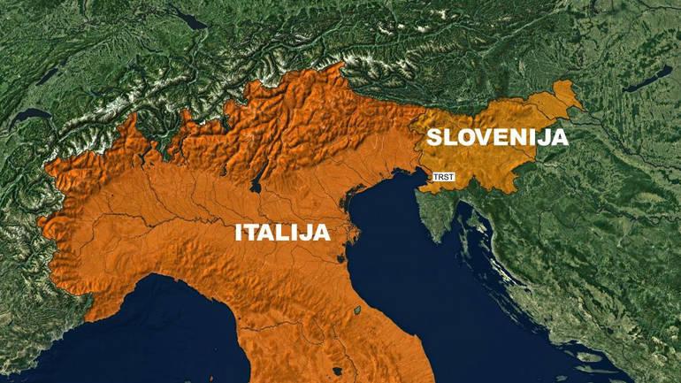 italija slovenija trst mapa