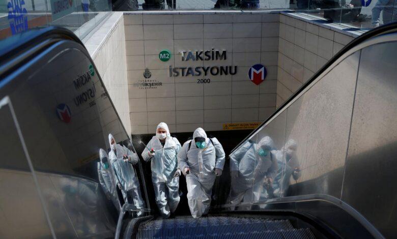 coronavirus taksim istanbul reuters