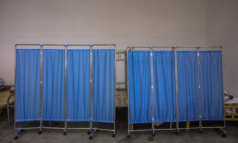 koronavirus kovid pandemija bolnica ilustracija