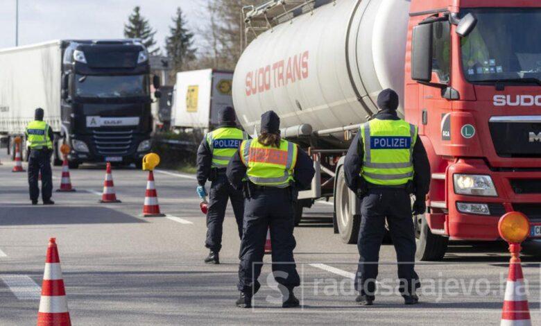 Njemacka Policija Granica Kontrola Ilustracija Foto EPA EFE