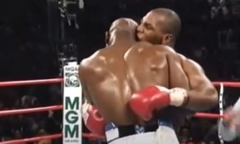 holyfield tyson boks mec 1997 prtscr