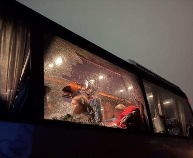 U Beranama kamenovan autobus sa Kosova