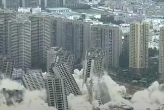 U Kini istovremeno srušeno 15 nebodera (Video)